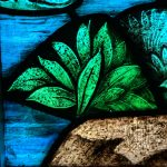 up close church sanctuary stained glass plant